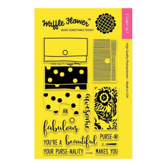 Waffle Flower Crafts Clear Stamps 4 inch X6 inch Purse-Nality