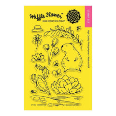 Waffle Flower Crafts Clear Stamps 4inch X6inch Summer Time