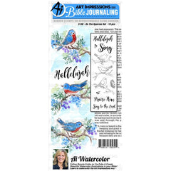 Art Impressions Bible Journaling Watercolour Rubber Stamps On The Sparrow
