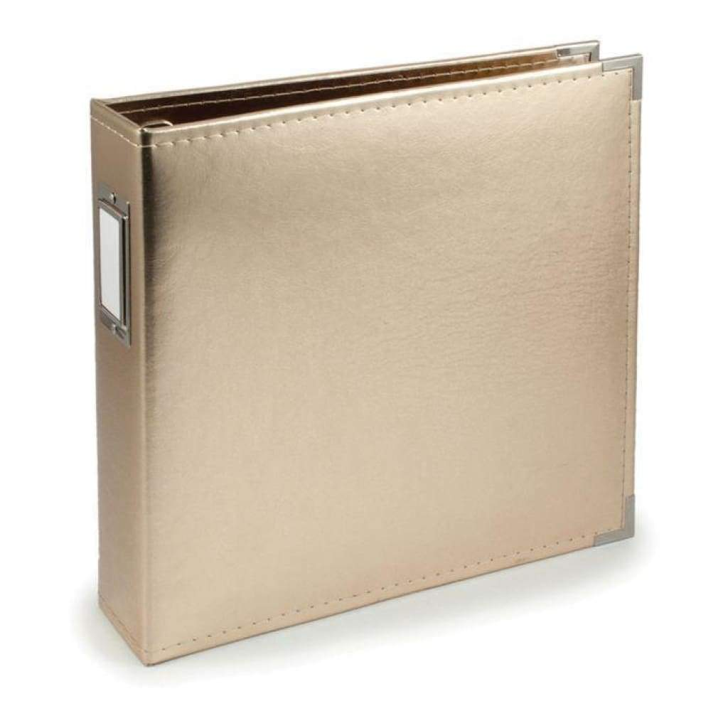 We R Faux Leather 3-Ring Binder 12 inch X12 inch Gold