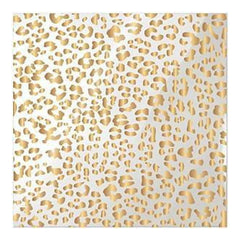 We R Memory Keepers - Clearly Posh Acetate Sheets 12 Inch X12 Inch  Cheetah  With Gold Foil