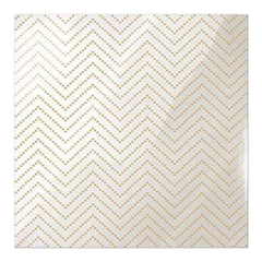 We R Memory Keepers - Clearly Posh Acetate Sheets 12Inch X12inch  - Chevron Dot  With Gold Foil