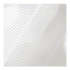 We R Memory Keepers - Clearly Posh Acetate Sheets 12Inch X12inch  - Chevron Dot  With Silver Foil