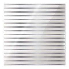 We R Memory Keepers - Clearly Posh Acetate Sheets 12Inch X12inch  - Stripe  With Silver Foil