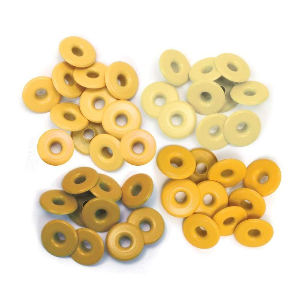 We R Memory Keepers Eyelets - Wide 40 pack - Yellow 1/2 inch