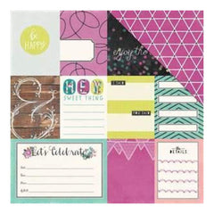 We R Memory Keepers - Hello Darling Double-Sided Cardstock 12In. X12in.  Noteworthy