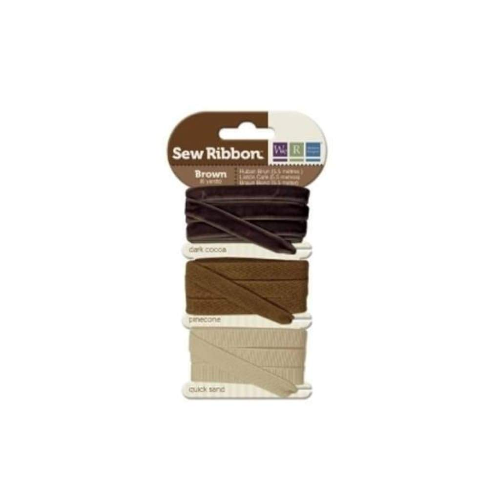 We R Memory Keepers - Sew Ribbon - Ribbon Set - Brown *