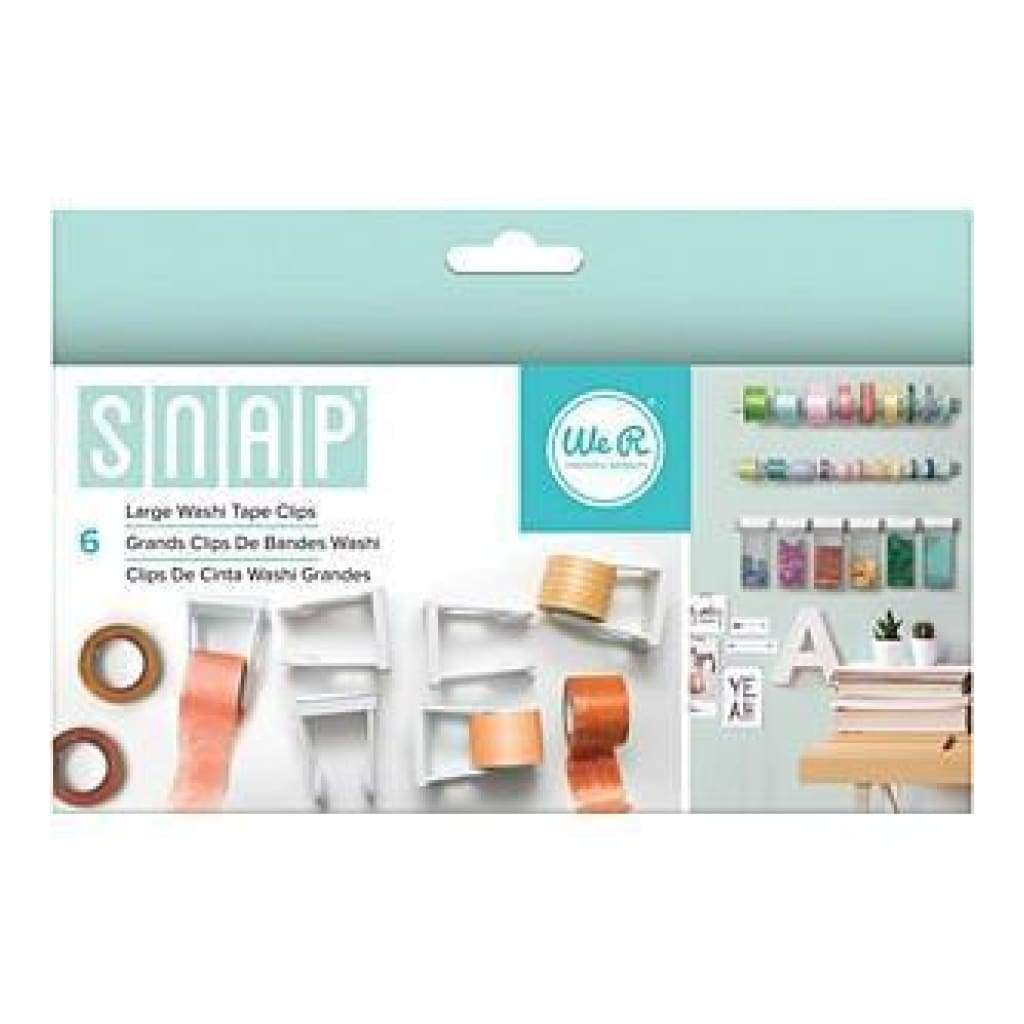 We R Memory Keepers - Snap Storage Washi Tape Clips 6 Pack  Large