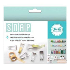 We R Memory Keepers - Snap Storage Washi Tape Clips 6 Pack  Medium