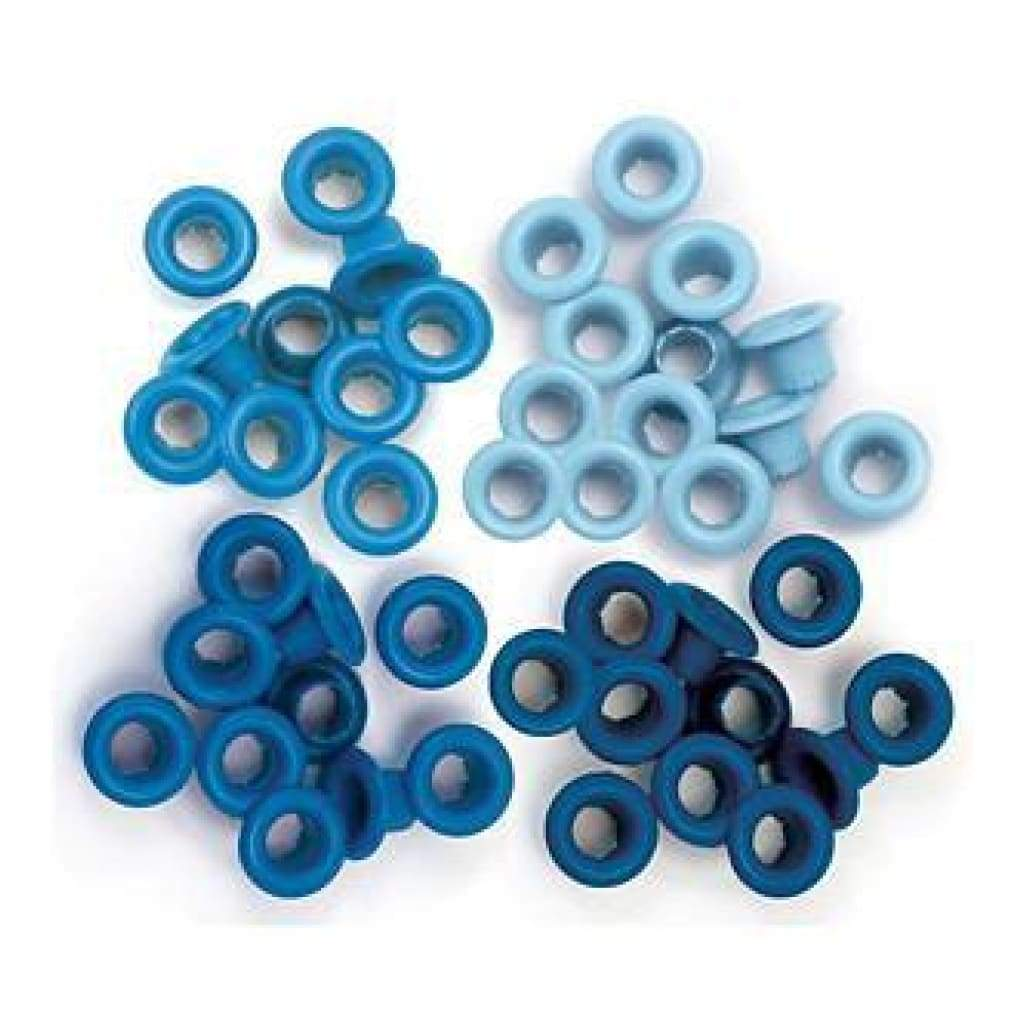 We R Memory Keepers - Standard Eyelets - Blue 1/3 inch