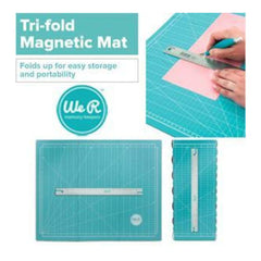 We R Memory Keepers-Tri Fold Magnetic Mat With 15In Metal Ruler.
