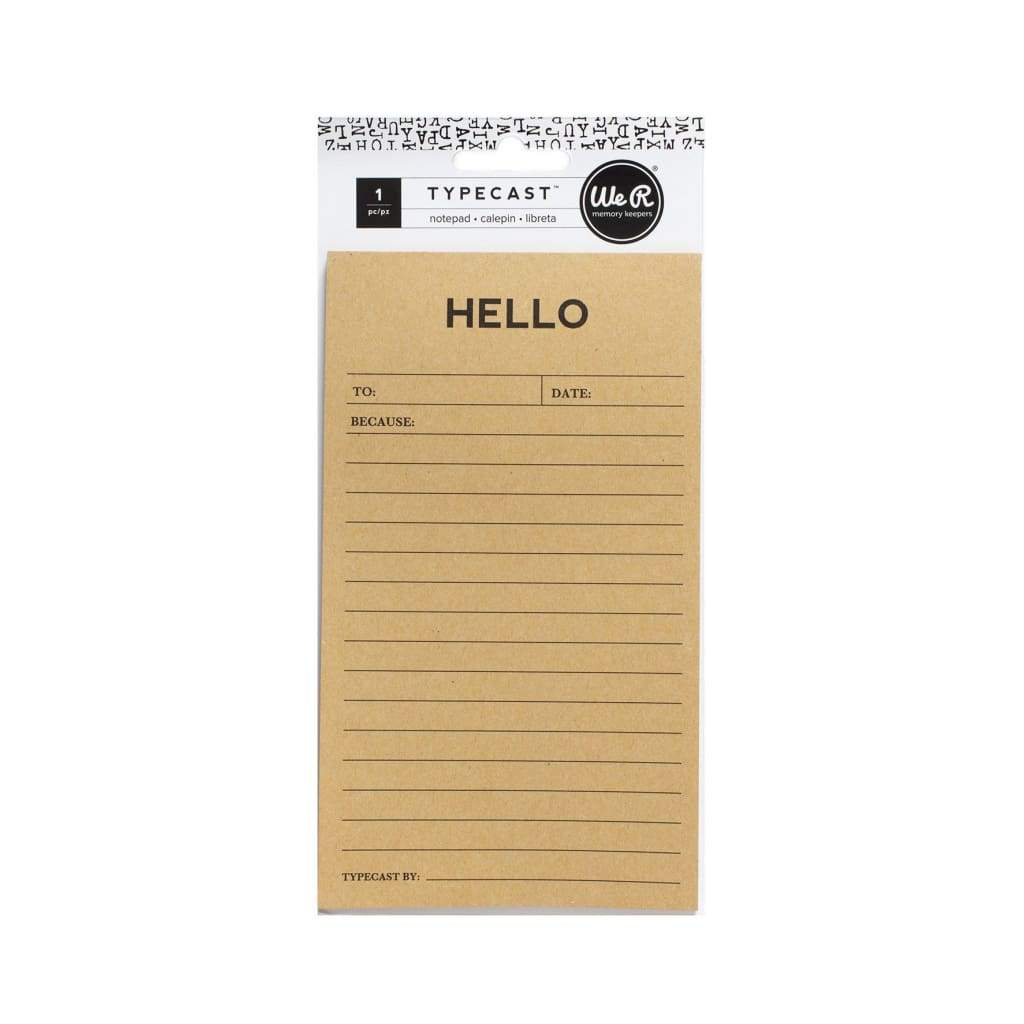 We R Memory Keepers Typecast Hello Notepad