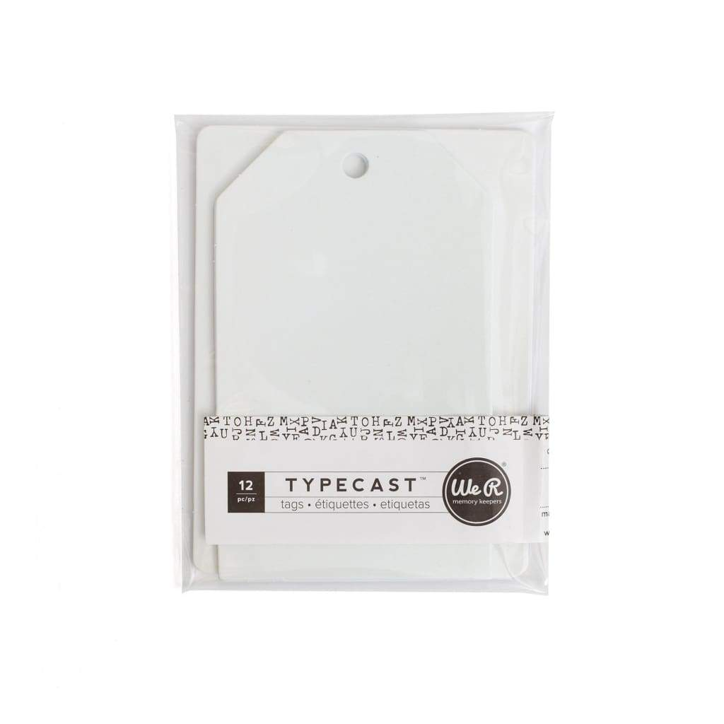We R Memory Keepers Typecast Tags & Cards - Cream