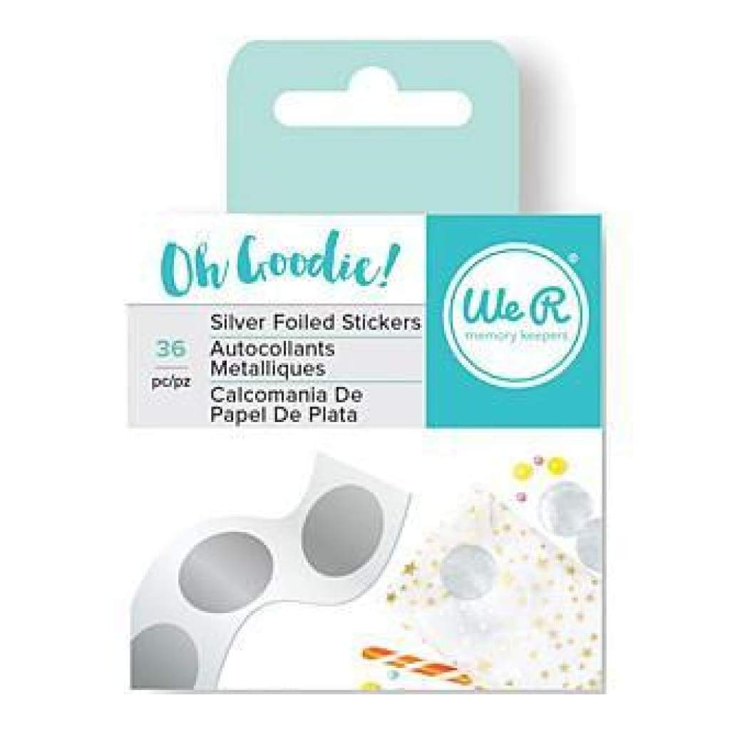 We R Oh Goodie! Foil Stickers 36/Rollsilver Circle