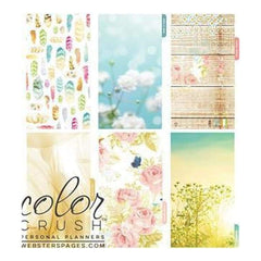 Webster's Pages -Colour Crush A2 Personal Planner Divider Set Kit - Be Happy Be Bright
