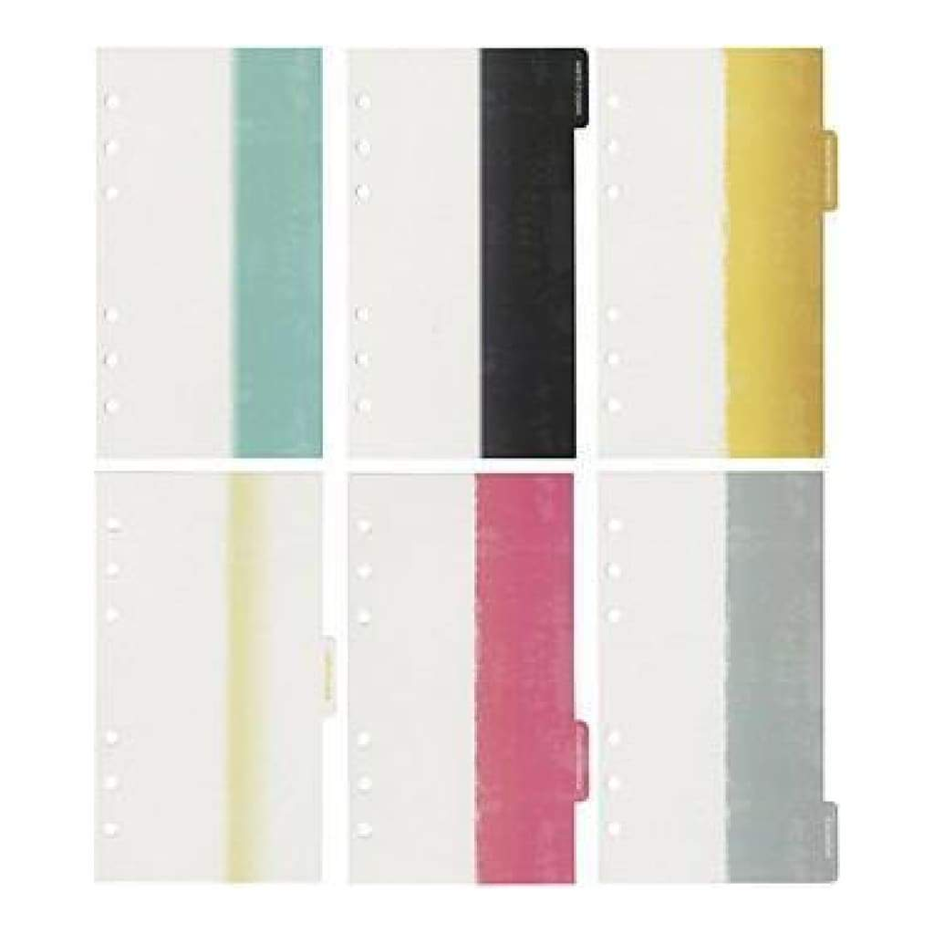 Webster's Pages -Colour Crush A2 Personal Planner Divider Set Kit - Dip Dye