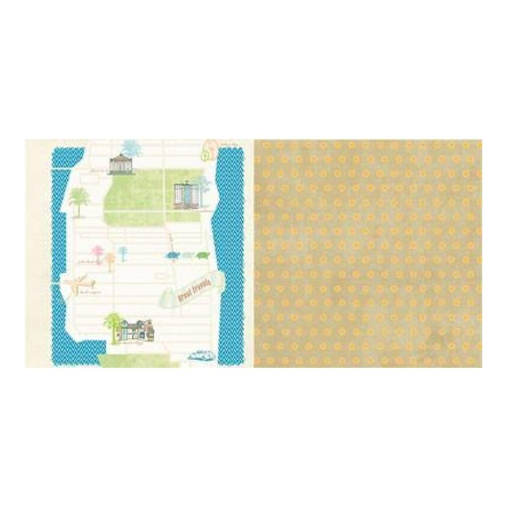 Websters Pages - Palm Beach - Great Travels 12X12 D/Sided Paper (Pack Of 10)