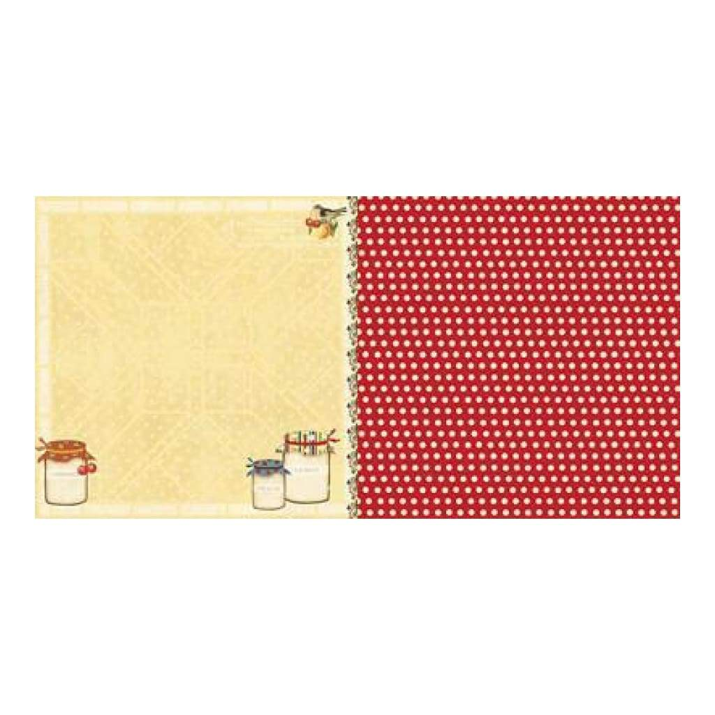 Websters Pages - Spring Market - Sweet Jam 12X12 D/Sided Paper (Pack Of 10)