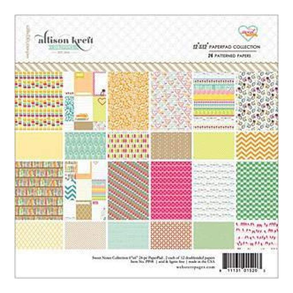 Webster's Pages - Sweet Notes - 12X12 Paper Pad