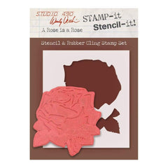 Wendy Vecchi - Studio 490 - Stamp It Stencil It 7 inch X8.5 inch A Rose Is A Rose