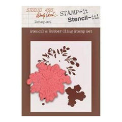Wendy Vecchi Studio 490 Stamp It Stencil It Bouquet