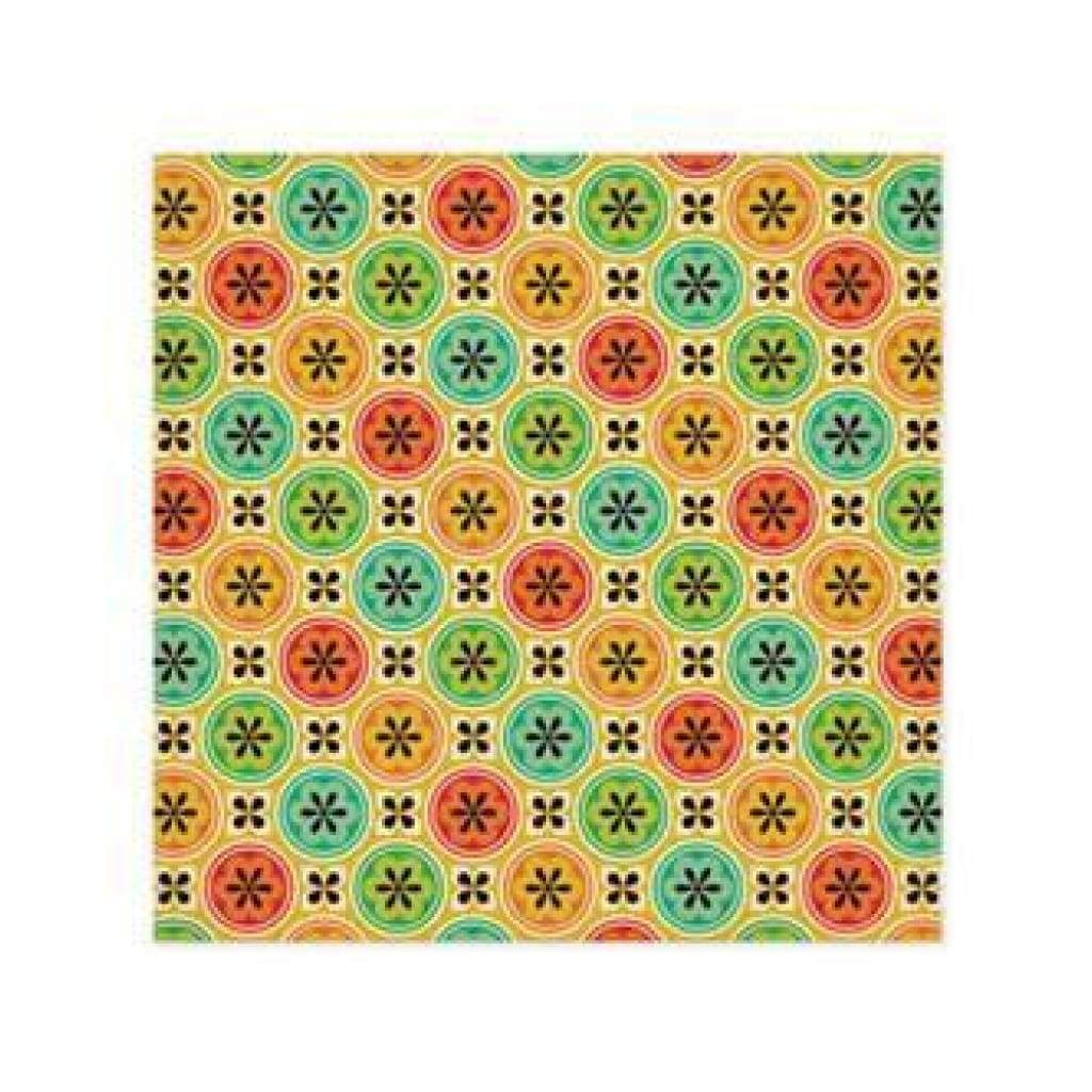 Wer Memory Keepers - 72 & Sunny - June 12X12 Glitter Paper (Pack Of 5)