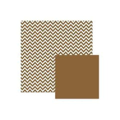 Wer Memory Keepers - Basics - Brown Chevron 12X12 Double-Sided Paper