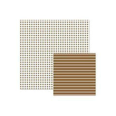Wer Memory Keepers - Basics - Brown Dot 12X12 Double-Sided Paper