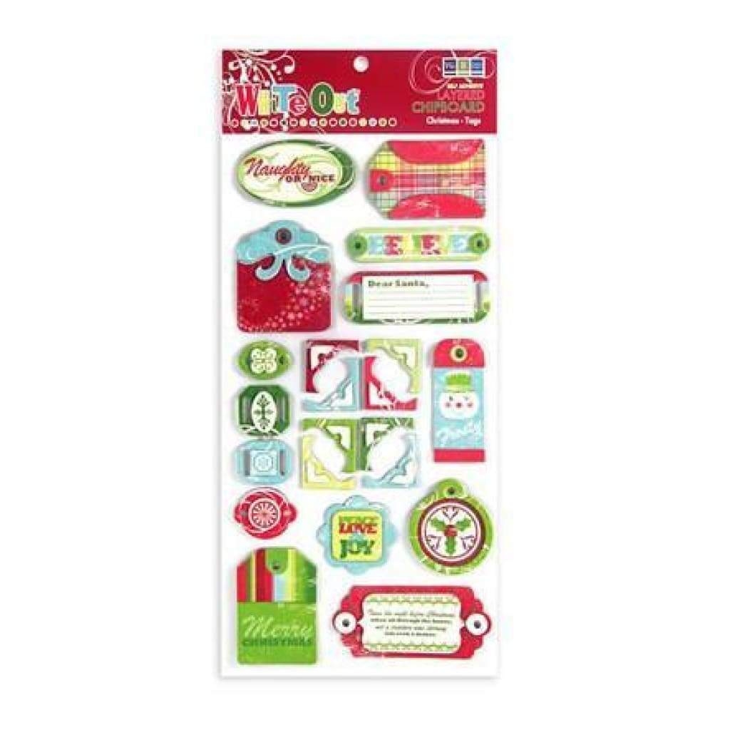 Wer Memory Keepers - Christmas Layered Chipboard Tags