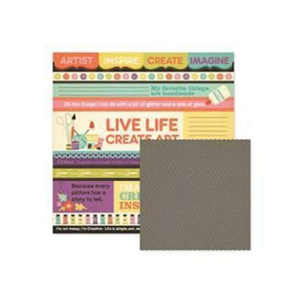 Wer Memory Keepers - Love To Craft - Create 12X12 Double-Sided Paper