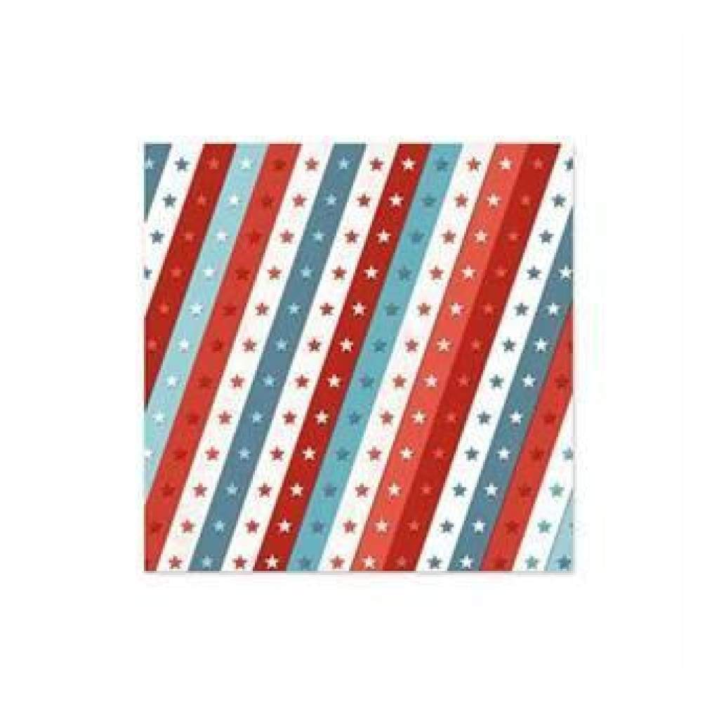 Wer Memory Keepers - Red White Blue - Ticker Tape 12X12 Foil Paper
