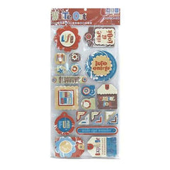 Wer Memory Keepers - Wo Explore Layered Chipboard Tags