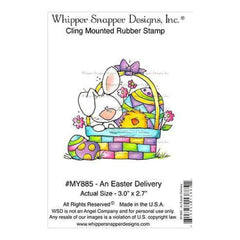 Whipper Snapper Cling Stamp 4 Inch X6 Inch  An Easter Delivery