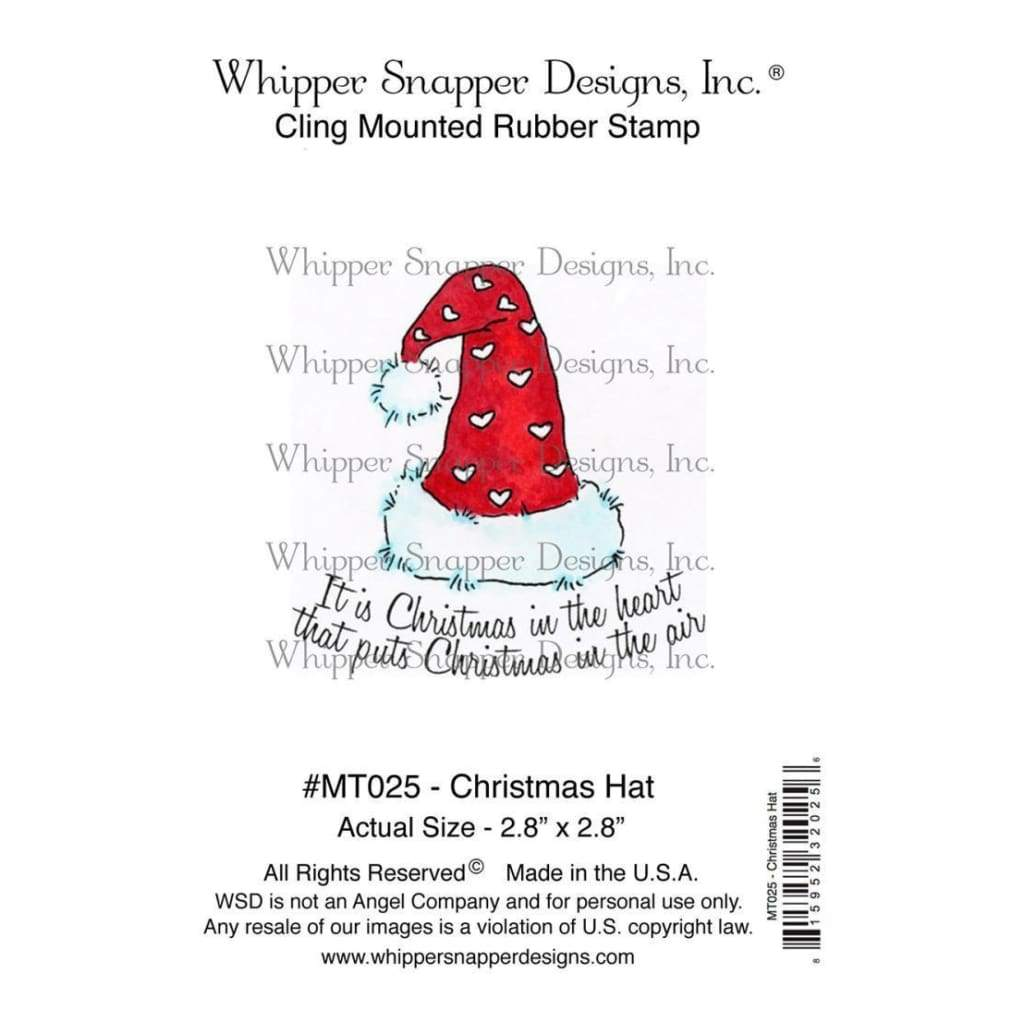 Whipper Snapper Cling Stamp 4 inch X6 inch Christmas Hat