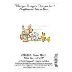Whipper Snapper Cling Stamp 4 Inch X6 Inch  Easter March