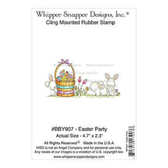 Whipper Snapper Cling Stamp 4 Inch X6 Inch  Easter Party