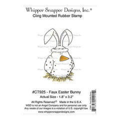 Whipper Snapper Cling Stamp 4 Inch X6 Inch  Faux Easter Bunny