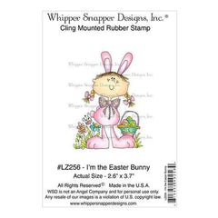Whipper Snapper Cling Stamp 4 Inch X6 Inch  I'm The Easter Bunny