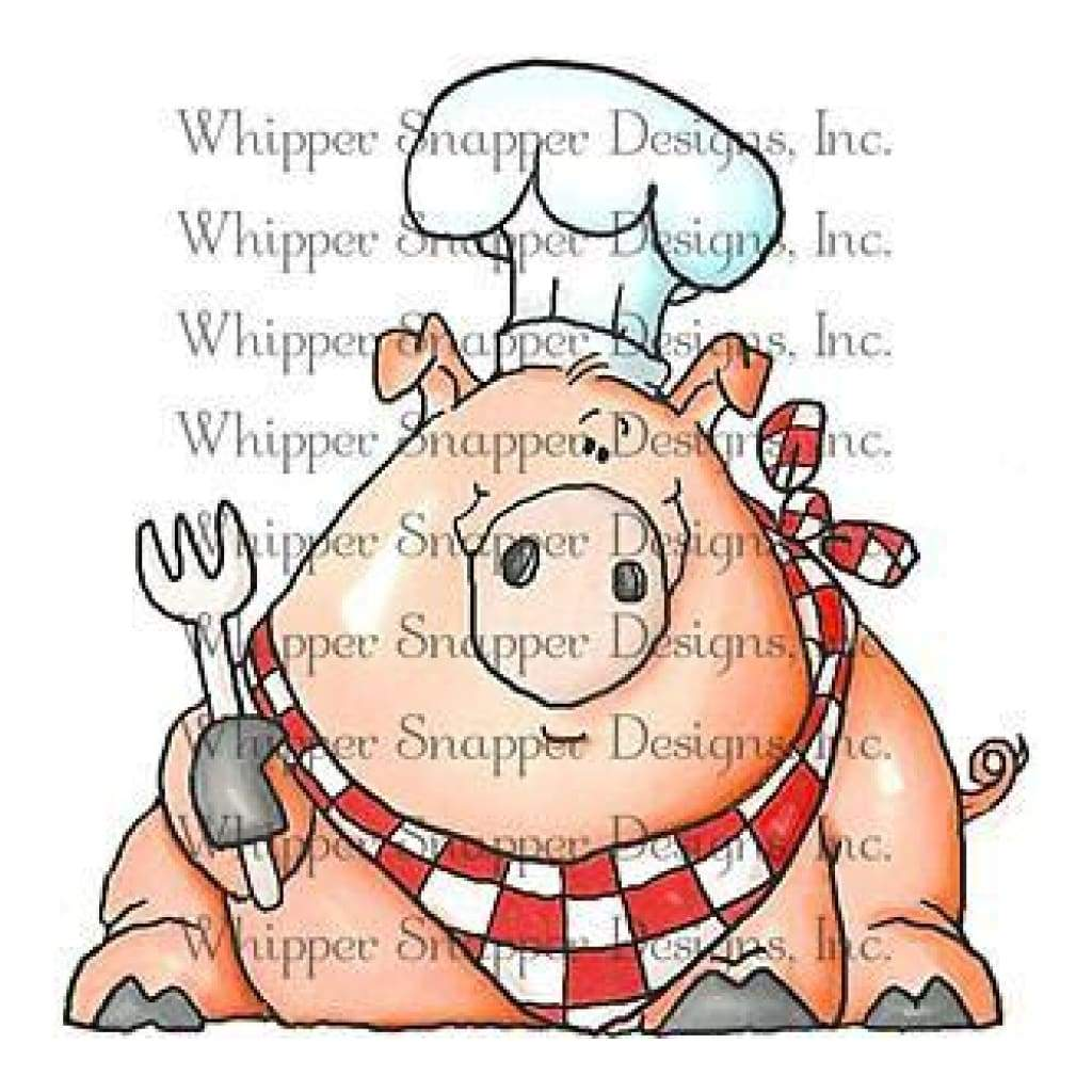 Whipper Snapper Cling Stamp 4 Inch X6 Inch  - Let's Eat