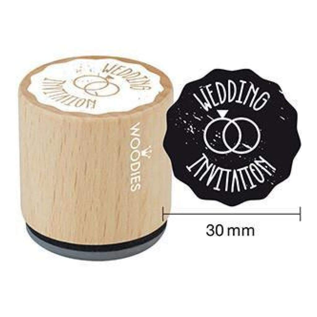 Woodies Mounted Rubber Stamp 1.35 Wedding Invitation