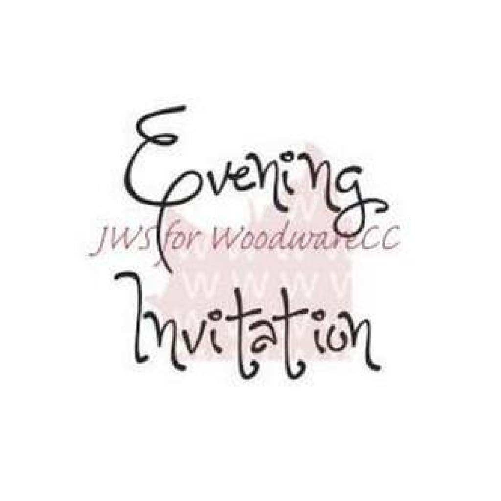 Woodware Clear Stamps 2.5In.X1.75In. Sheet Evening Invitation