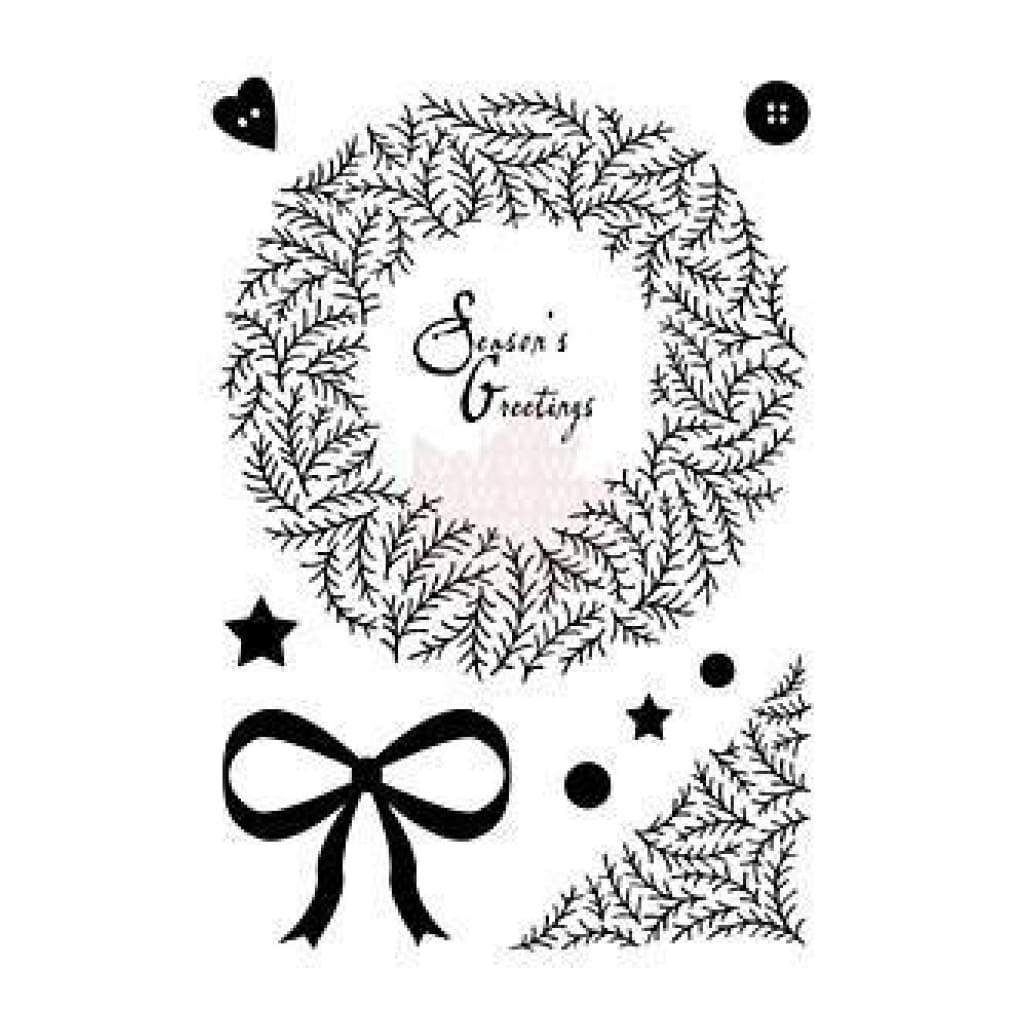 Woodware Clear Stamps 5.75X4 Inch Sheet - Twig Wreath