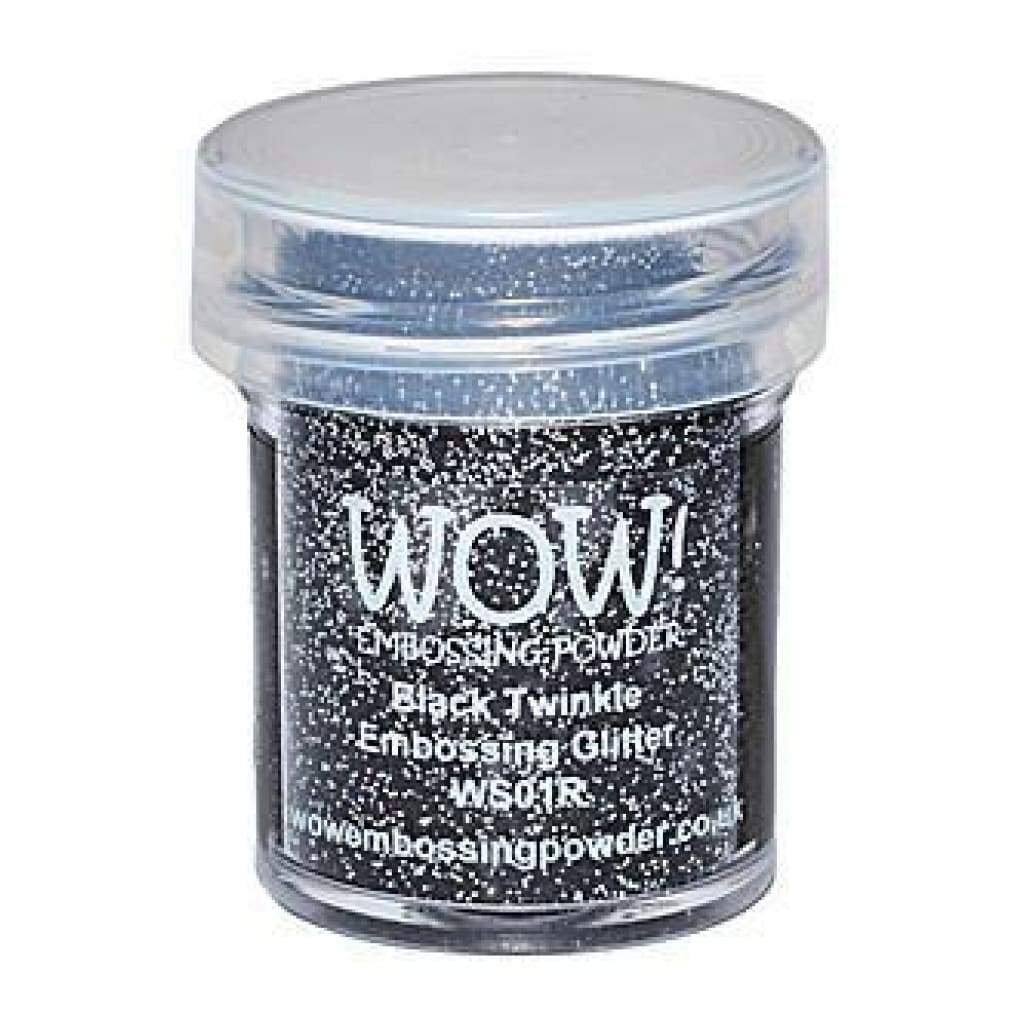 Wow  Embossing Powder - Black Twinkle