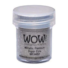 Wow  Embossing Powder - Metallic Platinum - Super Fine