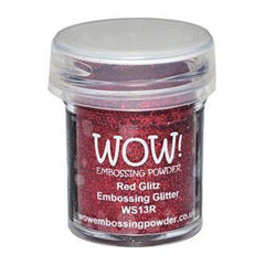 Wow  Embossing Powder - Red Glitz