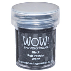 WOW!-Embossing Powder 15ml Black Puff