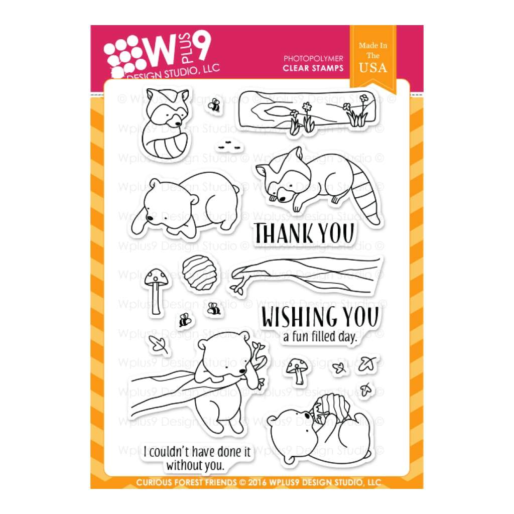 WPLUS9 - Stamp set - Curious Forest Friends