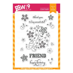 WPLUS9 - Stamp set - Embroidered Bouquet