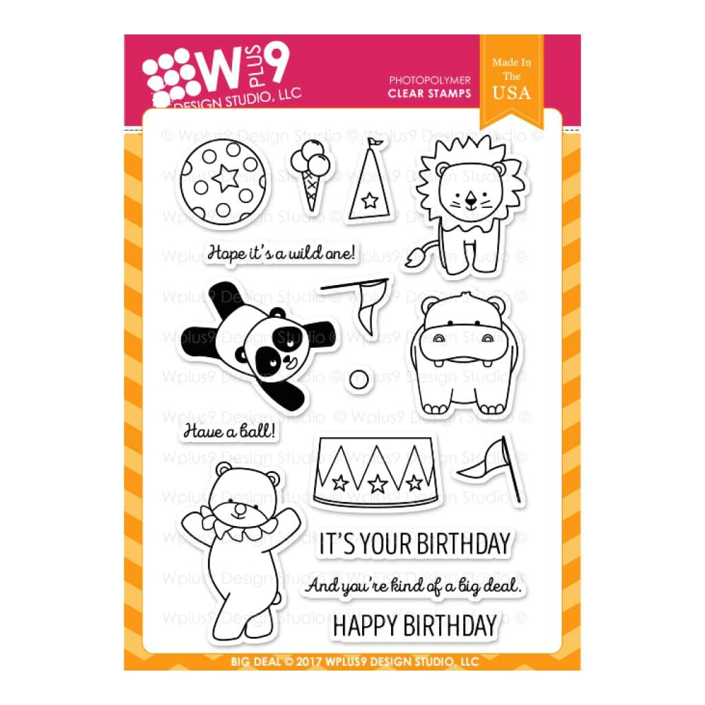 WPLUS9 - Stamp set - You're A Big Deal