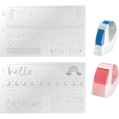 We R Memory Keepers - Mini Evolution Label Embossing Folder - Spring & Summer